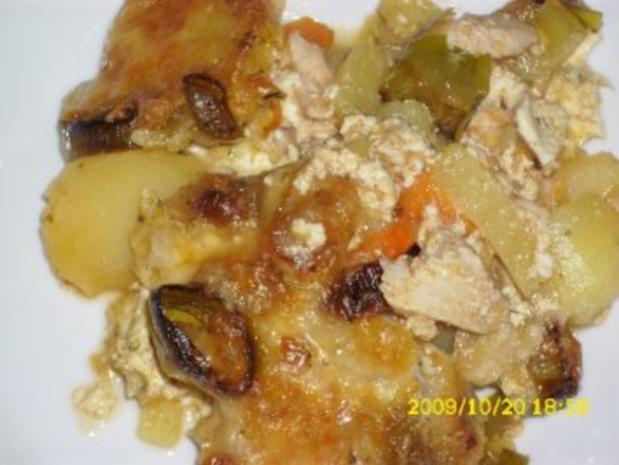 Auflauf:  Lauch-Karotten-Kartoffel mit geschnetzelter Hähnchenbrust - Rezept - Bild Nr. 2