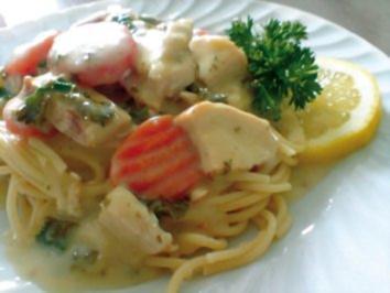 Spaghetti mit Zitronen-Sahne-Soße - Rezept