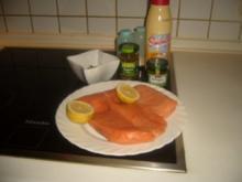 Lachs mit Kapern-Estagon-Salsa - Rezept