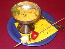 Ananassorbet mit Erdbeer-Mahon-Stick - Rezept