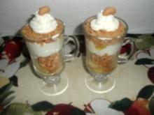 Apfel-Amarettini-Schichtspeise - Rezept