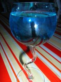 Cocktail: Cheery blue - Rezept
