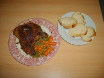 Paniertes Kotelett mit Erbsen und Möhrchen - Rezept