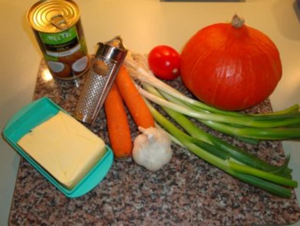 Putengeschnetzeltes mit Reis & Kürbis-Kokosmilch-Soße - Rezept - Bild Nr. 2