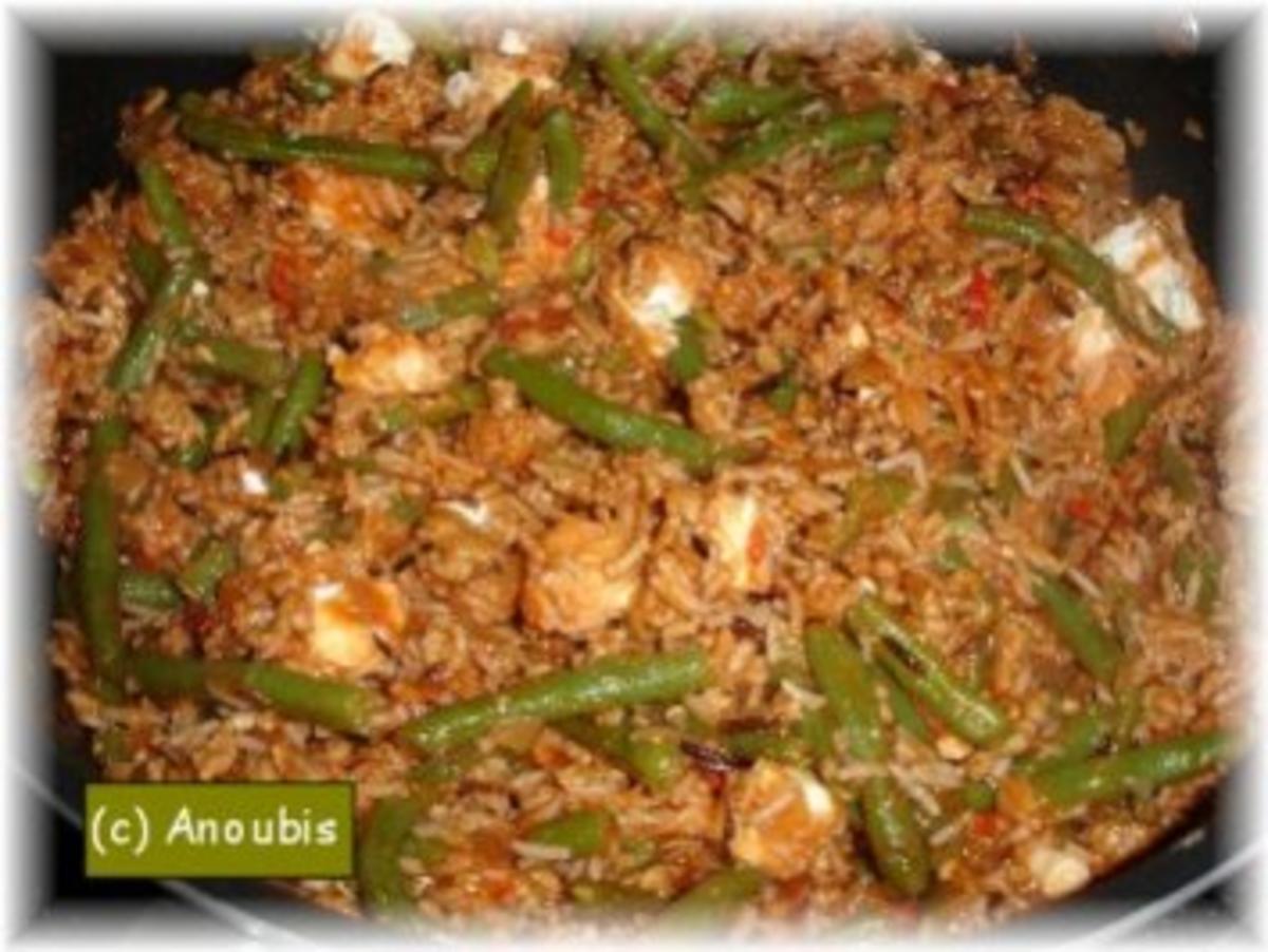 Bilder für Hackfleischgericht - Reispfanne mit Bohnen und Feta - Rezept