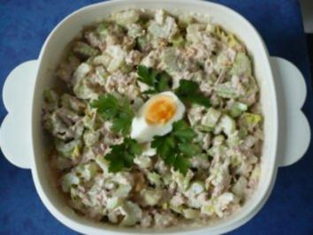 Staudenselleriesalat mit Thunfisch - Rezept