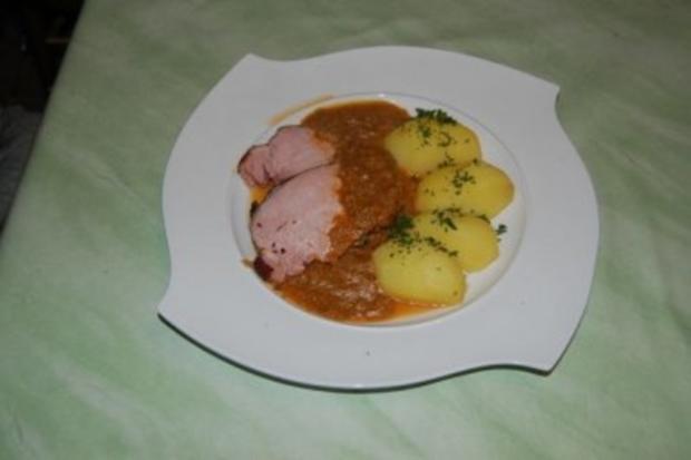 Kasseler Rippenspeer im Bratschlauch mit Petersilienkartoffeln - Rezept - Bild Nr. 6