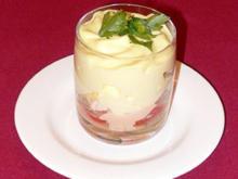 Cocktail von Soller-Gambas mit Wasabischaum - Rezept