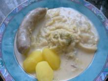 Gemüse; Wirsing mit grober Bratwurst - Rezept