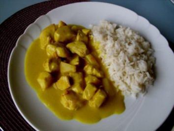 Hähnchen in Curry mit Ananas - Rezept