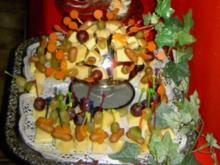 Käseplatte zur 70ziger Jahre Party - Rezept