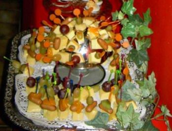 Rezept: Käseplatte zur 70ziger Jahre Party