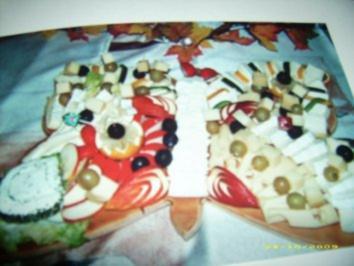 Käseplatte-Schmetterling - Rezept
