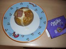 Bratapfel mit der lila Schokolade - Rezept