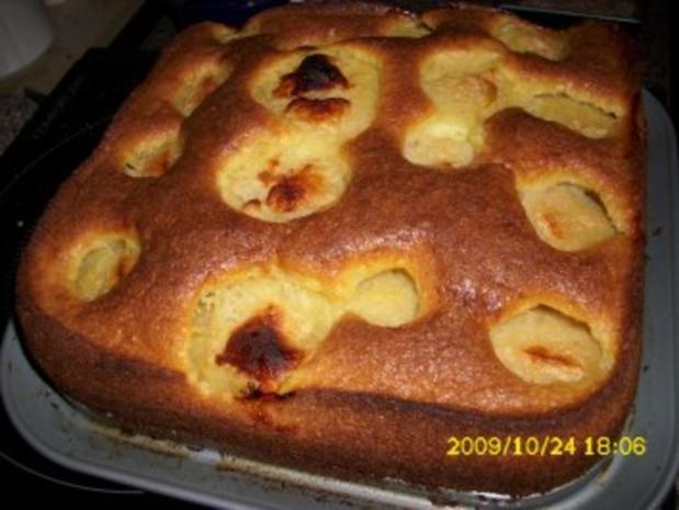 Kuchen: Schneller Apfelkuchen mit Birne - Rezept