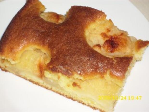 Kuchen: Schneller Apfelkuchen mit Birne - Rezept - Bild Nr. 2