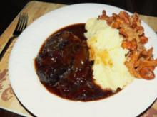 Brasilianische Rinderbraten mit Pfiferlinge,Püree oder Erbsen - Rezept