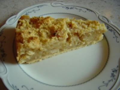 Bratapfel-Kuchen mit Mandeln und Streuseln... - Rezept