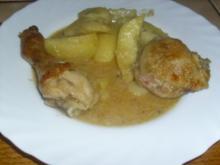 Geschmortes Hühnchen mit Curry - Rezept