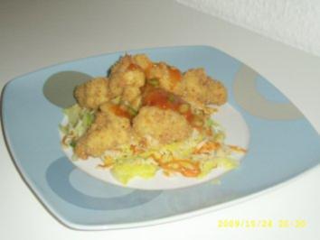 Knuspriger Fisch im Reisgebäck - Rezept