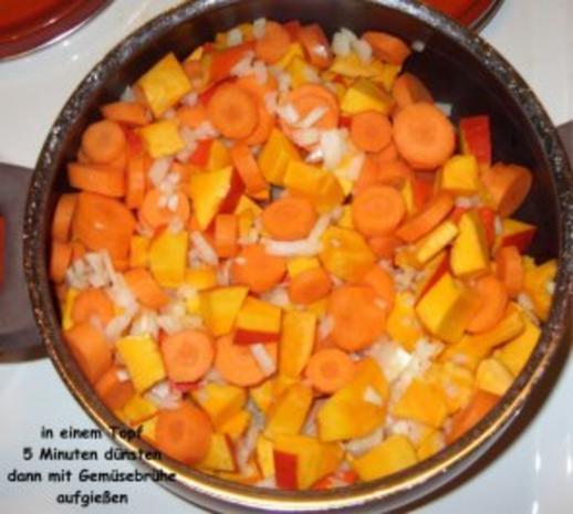 Kürbis-Karotten-Creme-Suppe mit Pfiff - Rezept - Bild Nr. 4