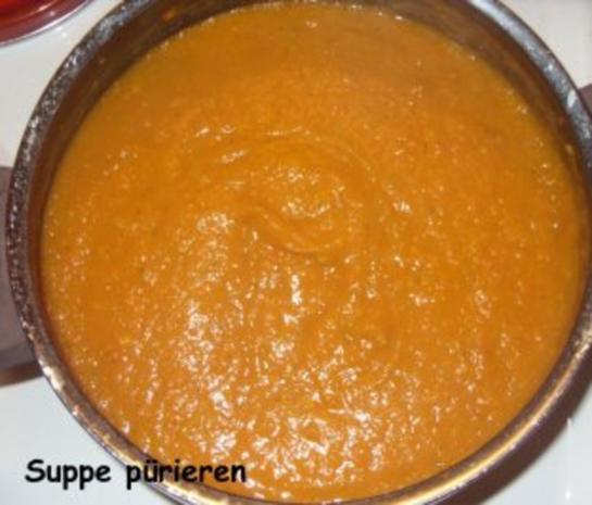 Kürbis-Karotten-Creme-Suppe mit Pfiff - Rezept - Bild Nr. 6
