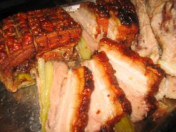 """Fleisch: """"Gespickter"""" Schweinebauch - Rezept"""