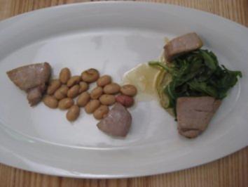 Thunfischsalat mit Borlotti-Bohnen und roter Zwiebel - Rezept