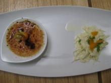 Crème brûlée von Gänseleber mit Apfel-Selleriesalat - Rezept
