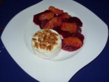 Rote-Beete-Orangen-Salat mit gegrilltem Camembert - Rezept