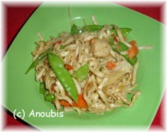 Geflügelgericht - Chinesischer Nudeltopf - Rezept