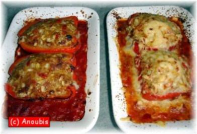 Hackfleischgericht - Gefüllte Paprika - Rezept
