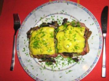 Schwarzwaldschinken-Champignion-Toast - Rezept