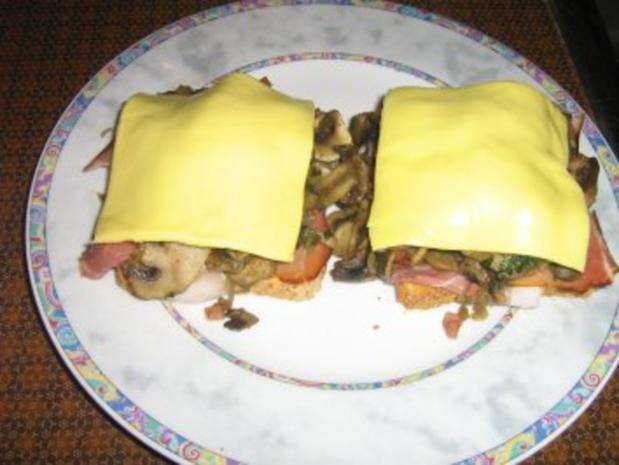 Schwarzwaldschinken-Champignion-Toast - Rezept - Bild Nr. 7