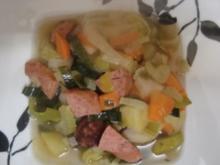 Eintöpfe: Gemüseeintopf mit Nürnberger Stadtwurst - Rezept