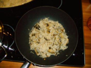 Gebratener Champignon-Reis - Rezept