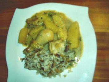 Hähnchen mit Kartoffel-Zucchini-Gemüse - Rezept