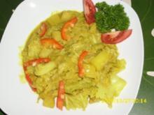 Gemüse: Kartoffel-Wirsing-Curry in Kokossoße - Rezept