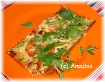 Hauptgericht vegetarisch - Vegetarischer Flammkuchen - Rezept