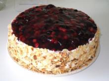 Obst  - Creme - Fraiche Torte - Rezept