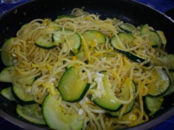 Spaghetti mit Zucchini-Sauce - Rezept