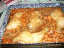 Hähnchenschlegel-Reispfanne - Rezept