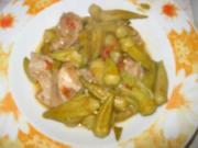 Kalbfleisch mit Okras - Rezept