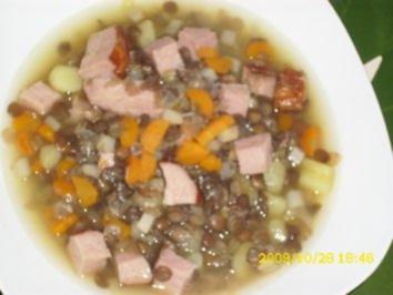 Suppe: Linseneintopf - Rezept