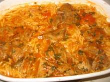 Giouwetzi-Kalbfleisch mit Reisnudeln - Rezept