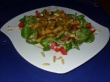 Gebratene Mini-Maultaschen auf Feldsalat - Rezept