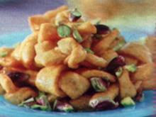 dessert nodini al miele con pistacchi - Rezept