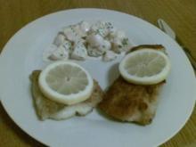 Zweierlei Seelachsfilet mit Kartoffelsalat - Rezept