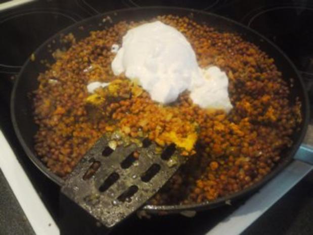 Currylinsen (mit Geselchtem und Semmelknödeln) - Rezept - Bild Nr. 4