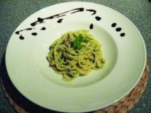 Spaghetti mit Lachs und Spinat - Rezept